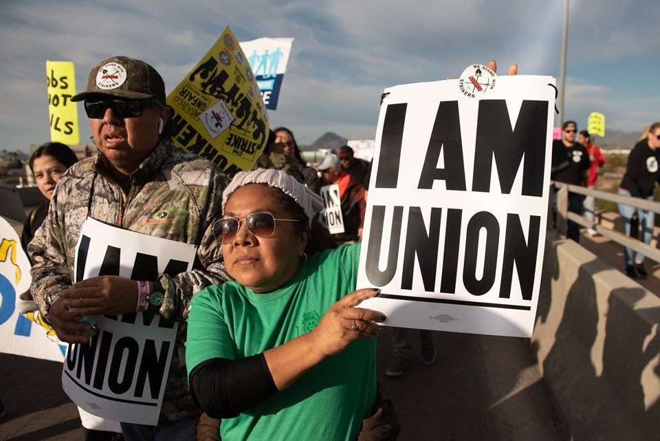 I am Union sign at Martin Luther King Jr. day march in Tucson, AZ